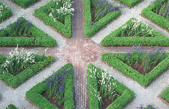 The geometric garden landscaping for symmetry backyard for Geometric garden designs